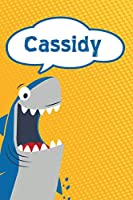 """Cassidy: Personalized Shark Blood Sugar Diet Diary journal log featuring 120 pages 6""""x9"""""""