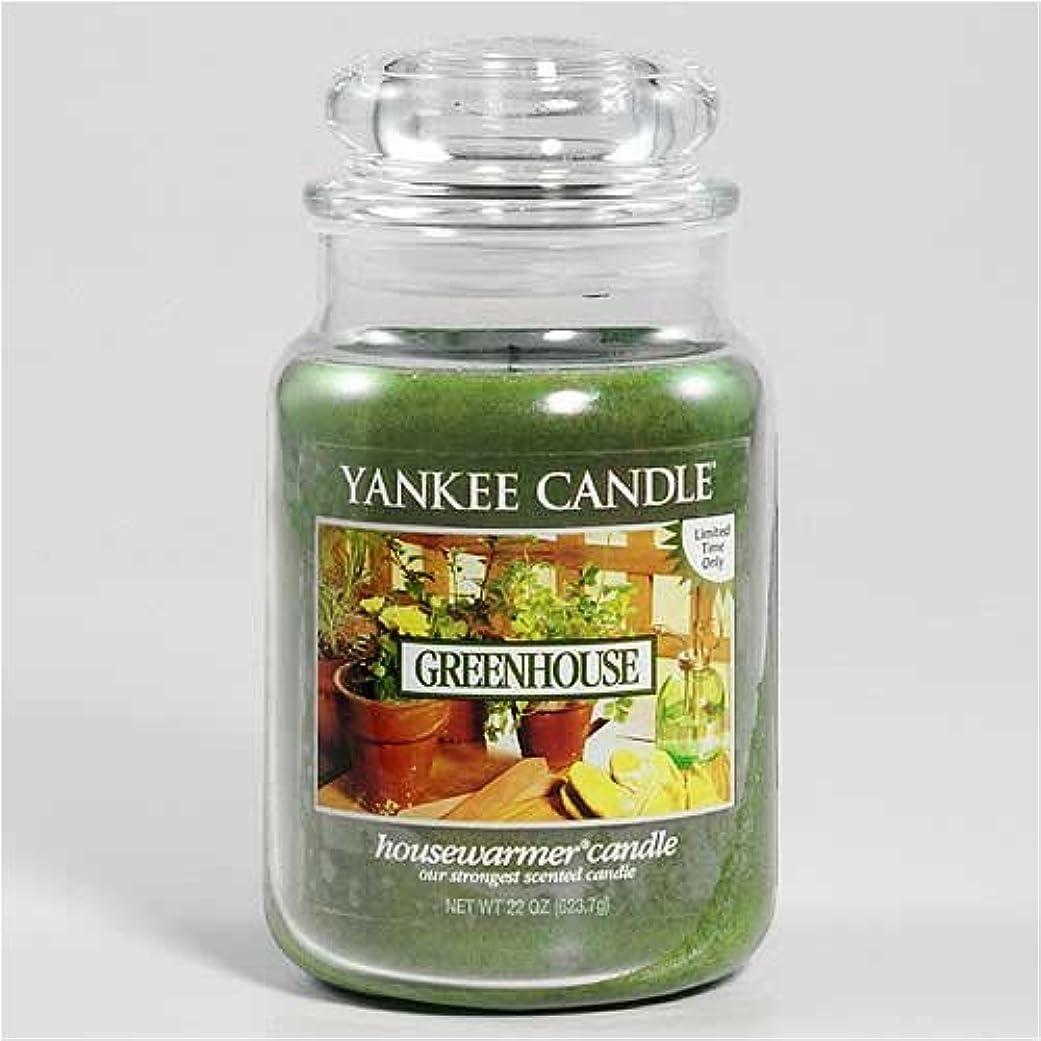 ピット和解するおしゃれなYankee Candle Greenhouse Large Jar Candle、新鮮な香り