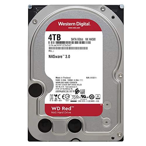 『Western Digital HDD 4TB WD Red NAS RAID 3.5インチ 内蔵HDD WD40EFRX-RT2 【国内正規代理店品】』の1枚目の画像