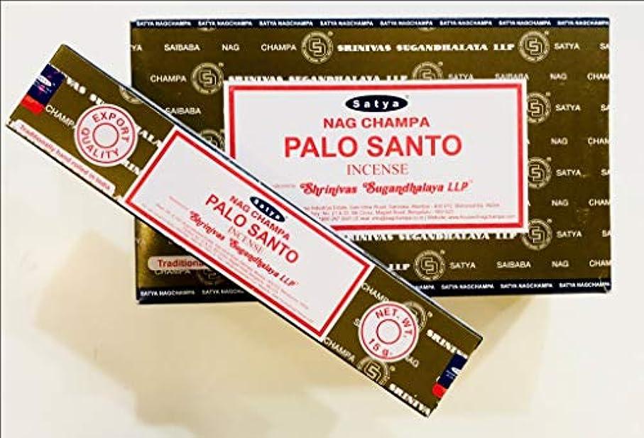 脆いカウンターパートトリップSatya Nag Champa - Palo Santo お香スティック 12本パック x 15グラム 180グラムボックス 輸出品質