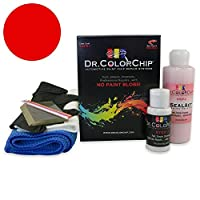 Dr。ColorChipアキュラNSX Automobileペイント Squirt-n-Squeegee Kit レッド DRCC-25-1521-0001-SNS