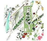 CHQ 植物 様々な草の形 紙のブックマーク 30枚セット しおりセットJS020