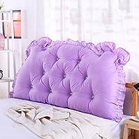 大型クッションコットンダブルベッドヘッド大きなバックソファ ( 色 : パープル ぱ゜ぷる , サイズ さいず : 1.2 meters(bed) )