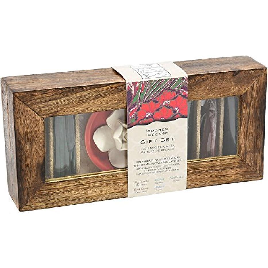 思慮深い割合出席する木製お香ギフトセット