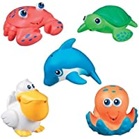 Munchkin SEA ANIMALS SQUIRTS Bath Toy (5pcs) ~NEW~ by Fonies baby shop [並行輸入品]
