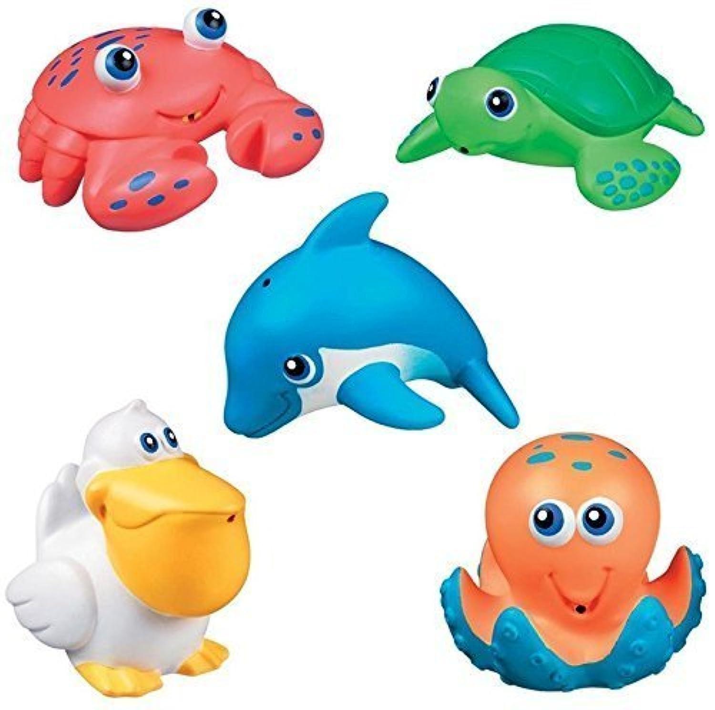 Munchkin SEA ANIMALS SQUIRTS Bath Toy (5pcs) ~NEW~ by Fonies baby shop [並行輸入品]