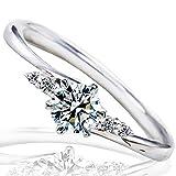 [ミワホウセキ] miwahouseki プロポーズ 婚約指輪 プラチナ 最高の輝きを放つ ダイヤモンド 0.2ct 鑑定書付 7号 [M297D]