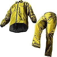 マック レインスーツ ダークイエロー EL 裾上げ調整可能 防水 アジャストマック AS-5100