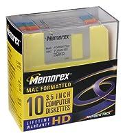 Memorex MF2HD 3.5' Mac-Formatted High-Density Floppy Disks (Colors, 10-Pack) [並行輸入品]