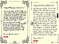 Quiplip Handwritten Yours Truly Birthday Cards 6-Pack (YT02166PCK) [並行輸入品]