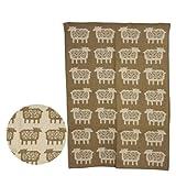 [クリッパン] KLIPPAN ウールブランケット 90x130 Sheep ベージュ [並行輸入品]
