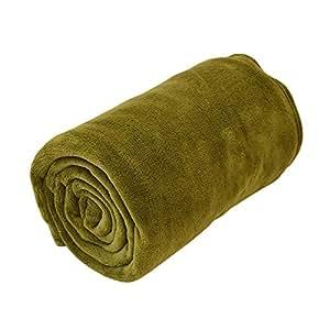 東京西川 マイクロファイバー 毛布 シングル 140×200cm グリーン マシュマロちっくな肌触り