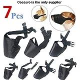 Dog Muzzles Suit 7 PCS Anti-Biting Barking Muzzles Adjustable Dog Mouth Cover for Small Medium Large Extra Dog