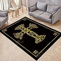 YMDT ラグカーペット 長方形 四角 おしゃれ 安い 絨毯カーペット 抗菌加工 洗える 滑り止め ホットカーペット対応 (80*160CM,124)