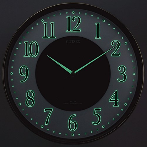 CITIZEN ( シチズン ) 電波 ソーラー 掛け時計 エコライフ M807 エコマーク グリーン購入法 適合商品 蓄光 オフィス 茶 (木目仕上) 4MY807-023