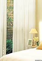 サンゲツ やわらかい風合いのシアーカーテン フラットカーテン1.3倍ヒダ SC3780 幅:300cm ×丈:190cm (2枚組)オーダーカーテン