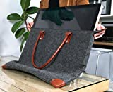 Lavolta Carrying Case Bag for Apple iMac 27-inch - Handmade Genuine Leather and Wool Felt - fits iMac 27 Retina 5K & 27 Thunderbolt Display - with Protective Lining & Pockets for iMac Accessories [並行輸入品]