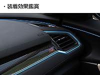 [Accesments]ホンダ シビック インパネ カラーライン カラーモール 5M 簡単装着 インテリアアクセサリー 1P [ブルー] CV016