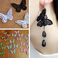 bc136311◆5000以上◆耳飾り材料★ヘアアクセサリーDIY★二重蝶々パーツ