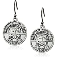 Lucky Brand Women's Coin Drop Earrings, Silver, One Size