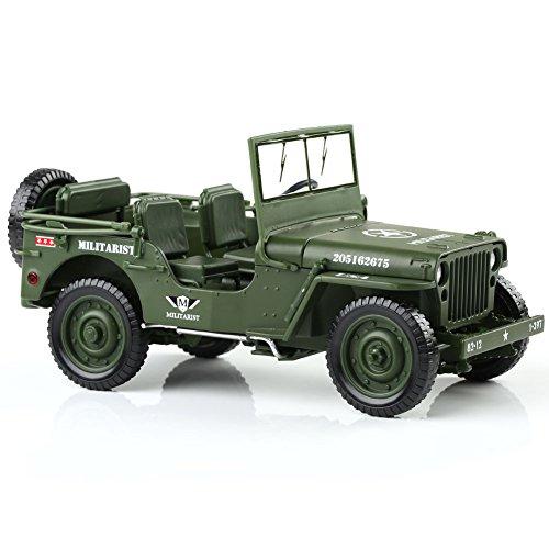 KAIDIWEI 軍事車模型 戦術ジープ 小型汎用軍事車両 高品質 1/18スケール 合金製 モデルカー 軍事車 プレゼント 建築模型 教育 写真に