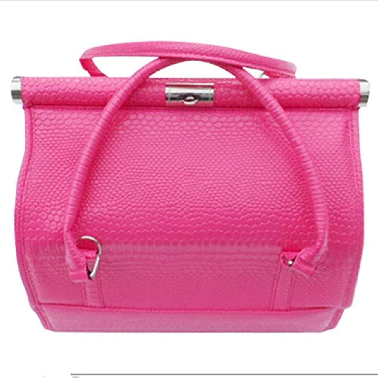 着替える口頭ドーム化粧オーガナイザーバッグ 女性の女性のための美容メイクアップのためのポータブル化粧品バッグ旅行と折り畳みトレイで毎日のストレージ 化粧品ケース