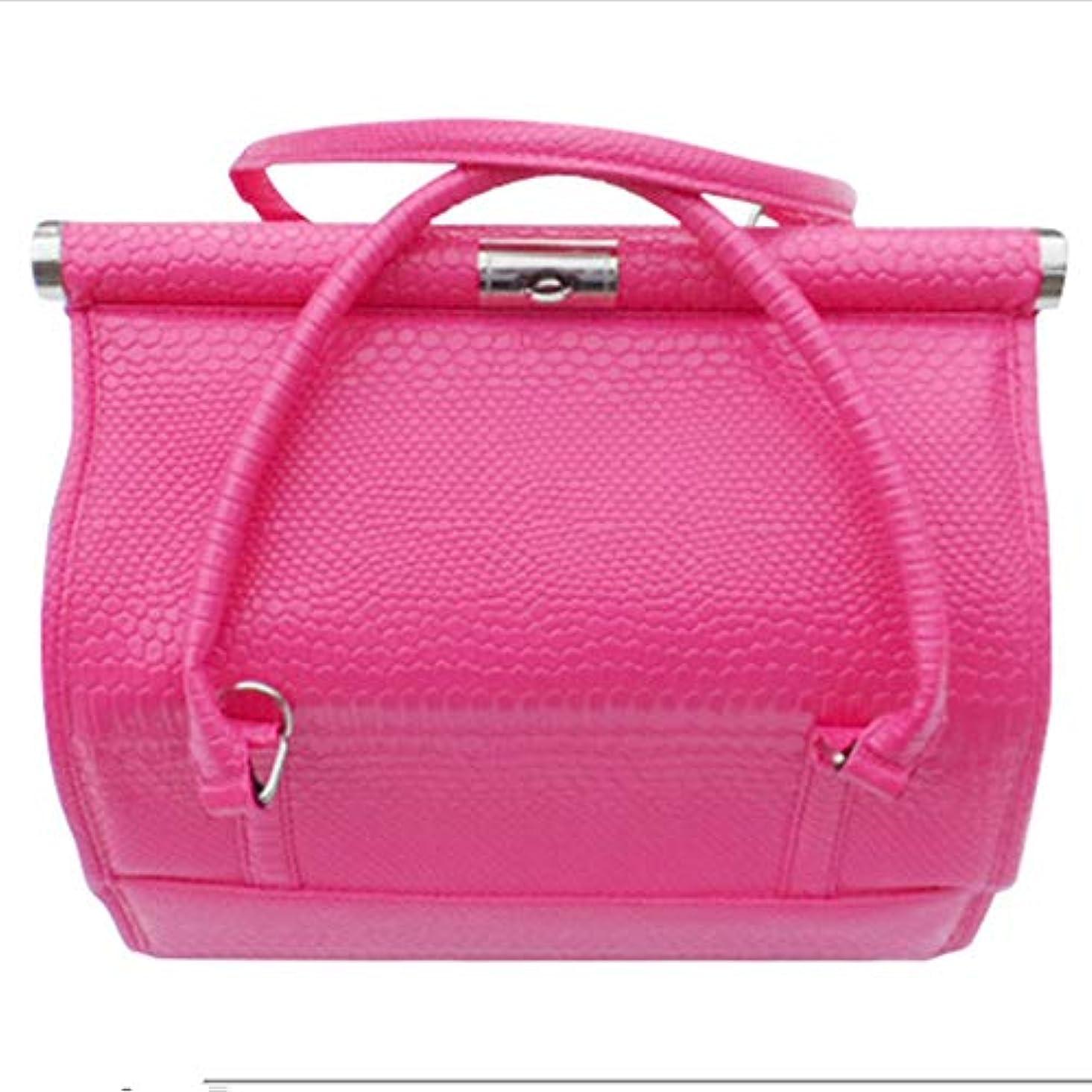 パターン差はっきりしない化粧オーガナイザーバッグ 女性の女性のための美容メイクアップのためのポータブル化粧品バッグ旅行と折り畳みトレイで毎日のストレージ 化粧品ケース