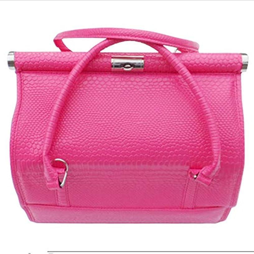 女将ラインナップ香り化粧オーガナイザーバッグ 女性の女性のための美容メイクアップのためのポータブル化粧品バッグ旅行と折り畳みトレイで毎日のストレージ 化粧品ケース