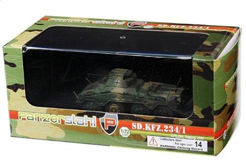 1:72 装甲車stahl ディスプレイ アーマー 88012 Bussing-NAG Sd.Kfz.234/1 プーマ ディスプレイ モデル ドイツ軍 4.PzDiv Danzig 1945【並行輸