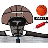 Up-Shot Trampoline Basketball Set with Inflatable Ball and Pump