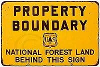 プロパティ境界National Forest Vintage Reproduction Metal Sign 8x 12