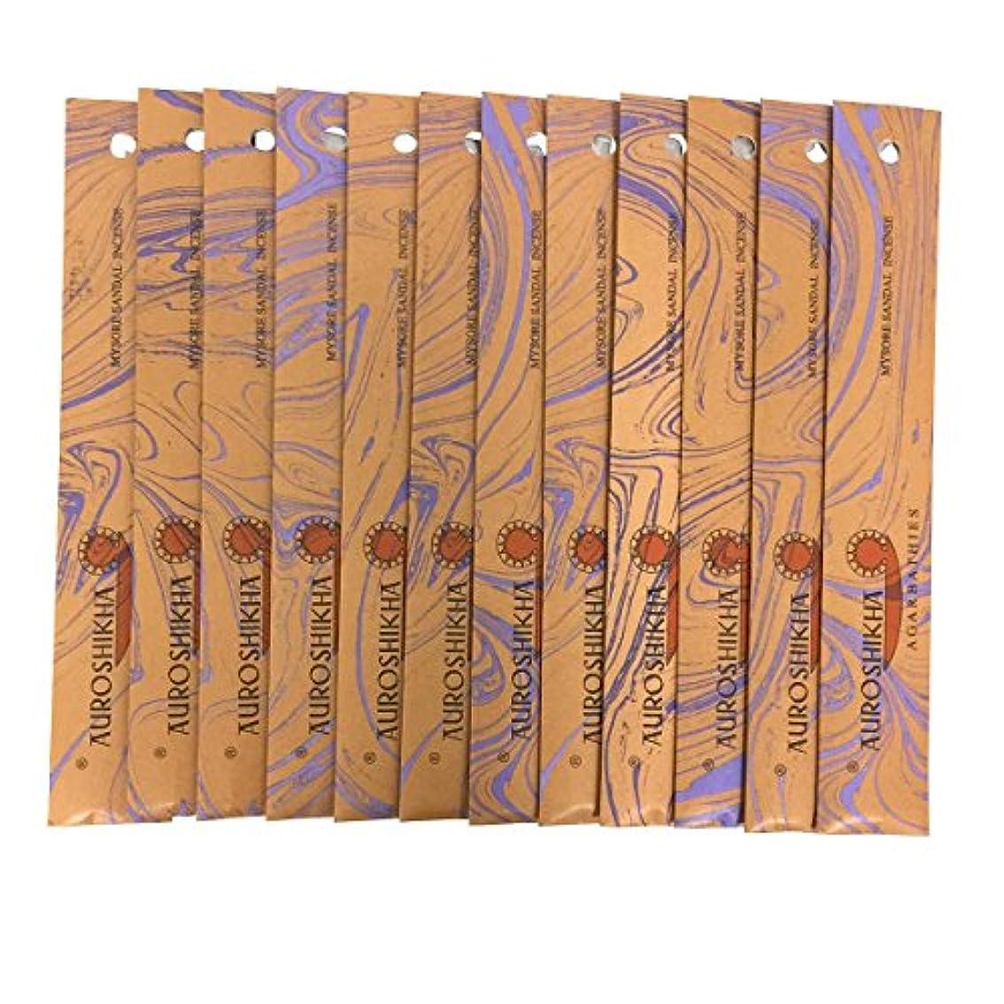 セットアップ専制ペルソナAUROSHIKHA オウロシカ(MYSORESANDALマイソールサンダル12個セット) マーブルパッケージスティック 送料無料