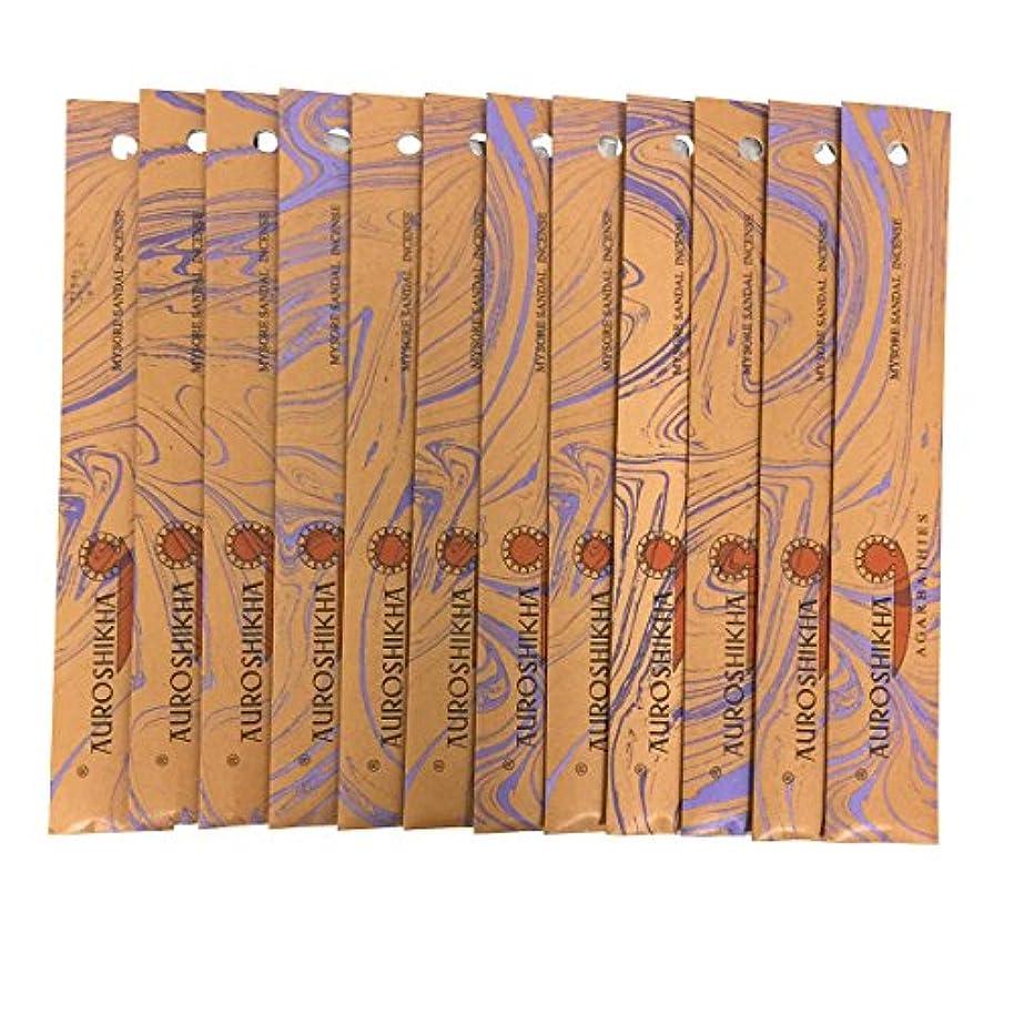 リップ流暢スポンジAUROSHIKHA オウロシカ(MYSORESANDALマイソールサンダル12個セット) マーブルパッケージスティック 送料無料