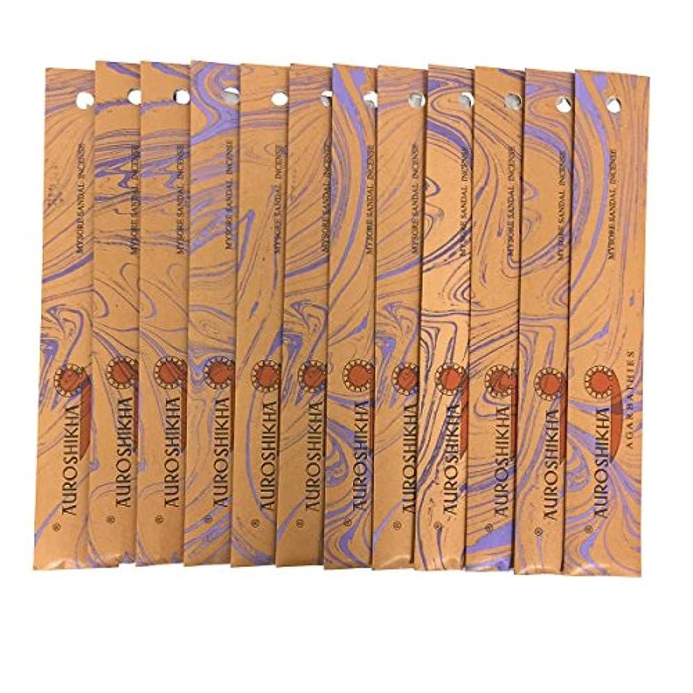 コミットメント滴下ドラマAUROSHIKHA オウロシカ(MYSORESANDALマイソールサンダル12個セット) マーブルパッケージスティック 送料無料