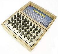 toolzone HB273 3mm 36Pcアルファベット文字および数字スタンプ/パンチ、シルバー