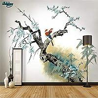 KAHSFA 3Dの壁紙大カスタム壁紙手作り梅新中国ストローク