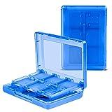COCASES ゲームカードケース Nintendo 2DS/NEW 3DS/NEW 3DSXL/3DS/DSi/DSi XL/DSi LL/DS メモリカード ビデオゲームカード ルチゲームカード 収納ケース ボックス 28-in-1 大容量 ブルー