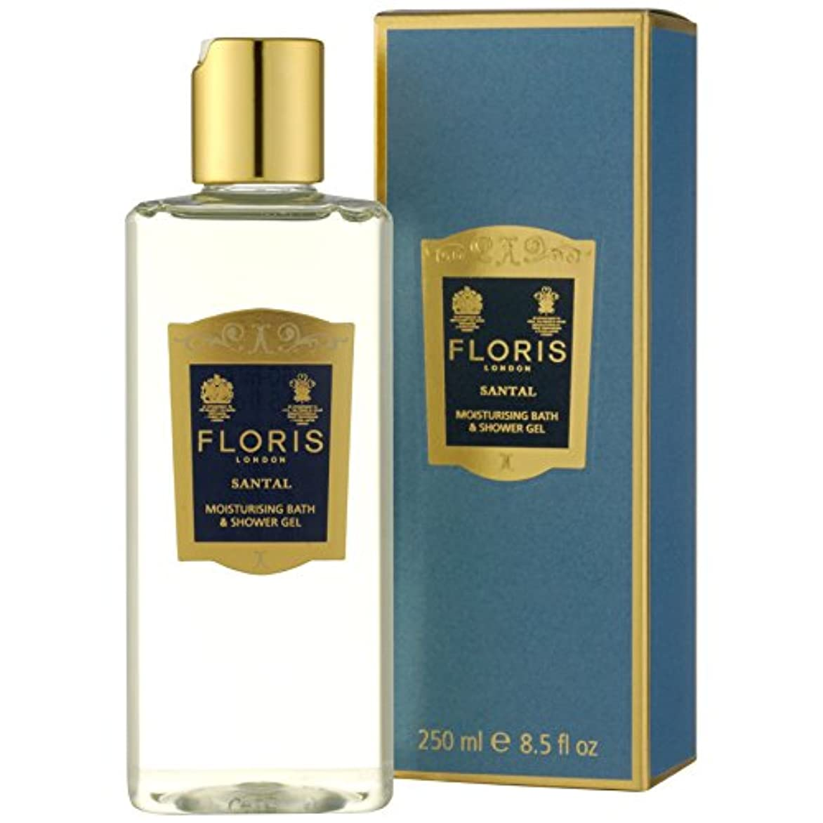 ハブ定期的簡単に[Floris ] フロリスサンタルシャワージェル250ミリリットル - Floris Santal Shower Gel 250ml [並行輸入品]