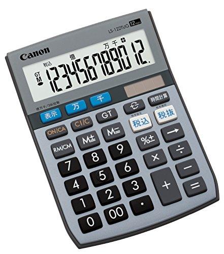 Canon 電卓 LS-122TUG SOB 12桁 グリーン購入法適合 千万単位表示 時間計算付 税計算可 ミニ卓上タイプ