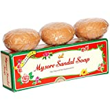 Mysore Pure Natural Sandalwood Oil Ayurvedic Soap - 3 x 150g bars in 1 gift pack