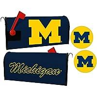 Michigan Wolverines磁気メールボックスカバー&ステッカーセット