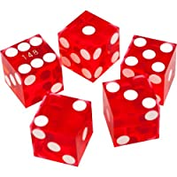 Trademark Poker A等級 シリアル番号付き カジノダイスセット 19mm