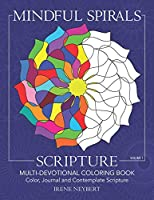 Mindful Spirals Scripture: Multi-Devotional Coloring Book  - Color, Journal and Contemplate Scripture