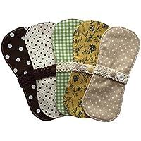 すぃーと・こっとん おりもの用 布ナプキン ミニーナライナー(ナチュラルカラー)5枚セット