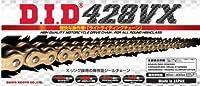 ∽カット済み DIDシールチェーン428VX-134L《ゴールド》カシメ・ジョイント/ホンダ (250cc) CBR250RR【年式'90-'99】