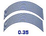 AUTOMAX izumi リム(青)0.35cm▼直線ブルー反射 幅0.35cmリムステッカー14~16インチ対応 リムライン