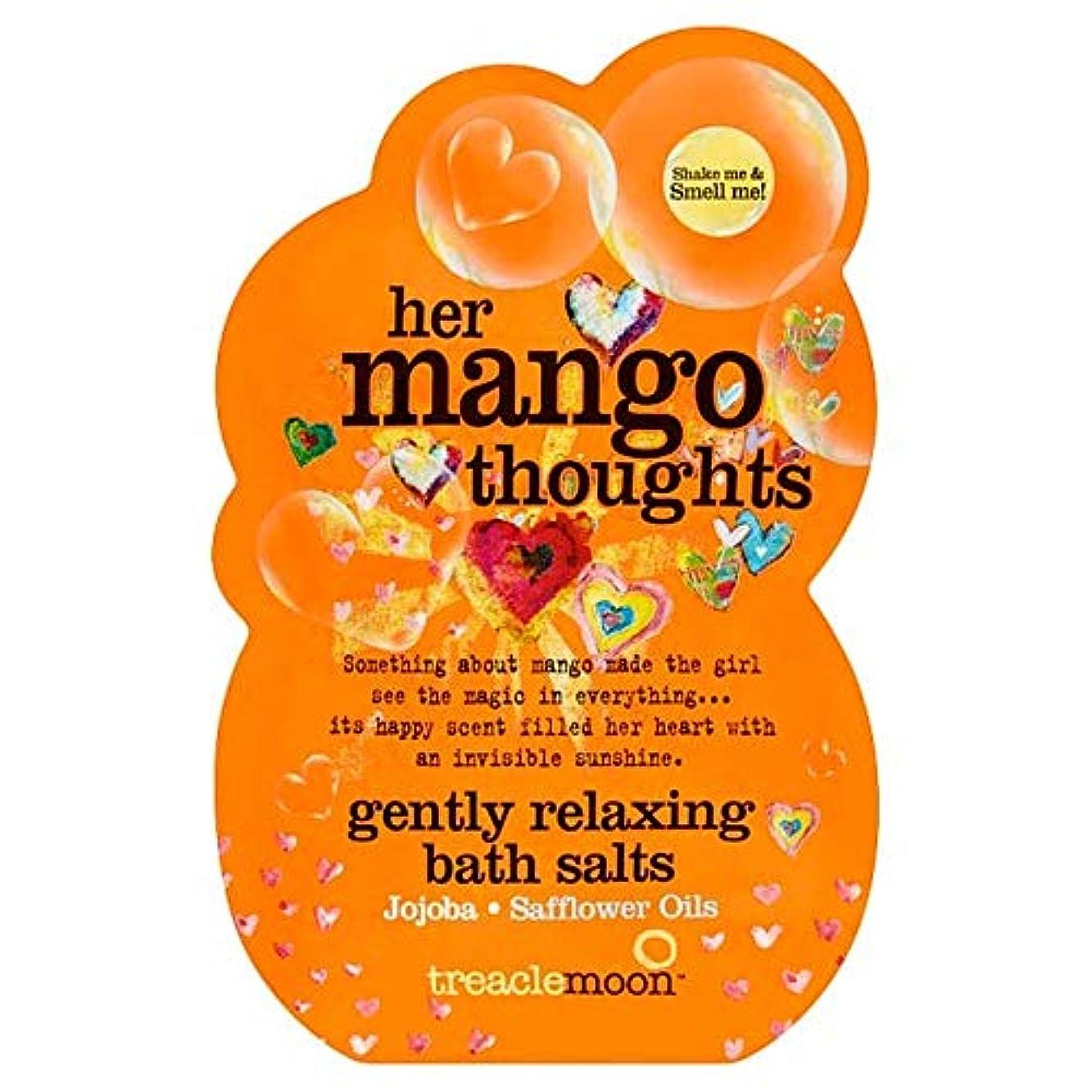 倒錯お嬢広告する[Treacle Moon] Treaclemoonマンゴー思考のバスソルトの80グラム - Treaclemoon Mango Thoughts Bath Salts 80G [並行輸入品]