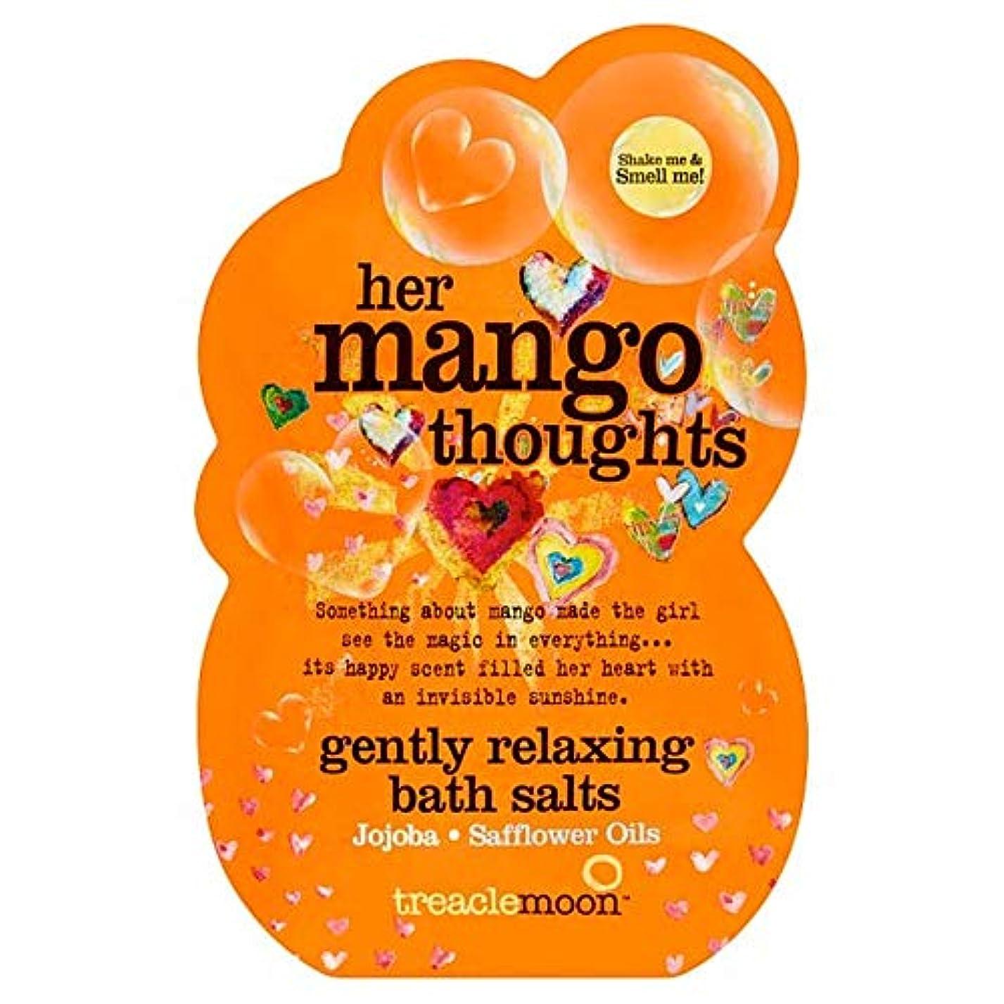 フローティングただ間欠[Treacle Moon] Treaclemoonマンゴー思考のバスソルトの80グラム - Treaclemoon Mango Thoughts Bath Salts 80G [並行輸入品]