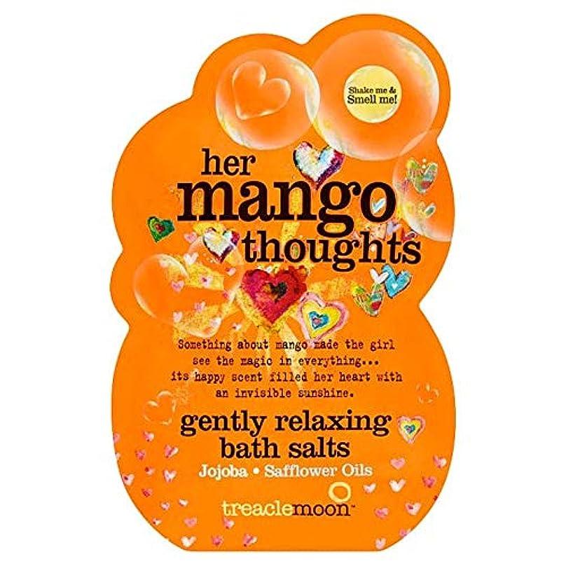 蛾凝縮する許容[Treacle Moon] Treaclemoonマンゴー思考のバスソルトの80グラム - Treaclemoon Mango Thoughts Bath Salts 80G [並行輸入品]