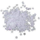 Baoblaze 紙吹雪 スノーフレーク クリスマス  DIY 手作り装飾 2色選べ - B